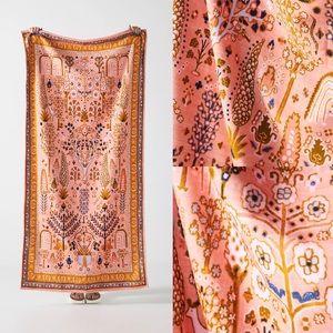 2 Anthropologie Camille Velour Beach Blanket Towel